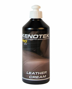 Leather Cream Kenotek Pro - emulsja czyszcząca 400ml + MIKROFIBRA